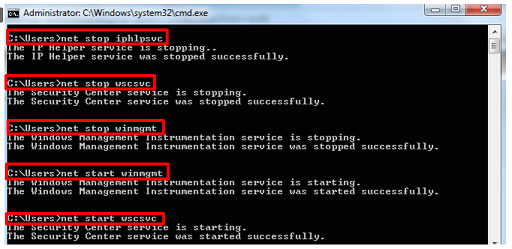 Restart the services associated with WMI Provider Host