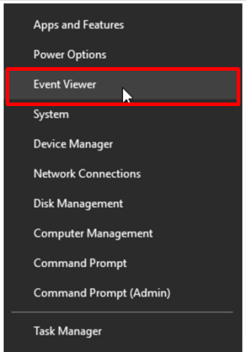 Uninstall the faulty components - Choose the Event Viewer