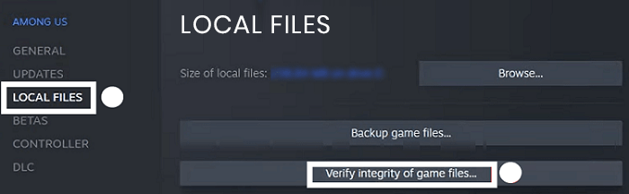 click on the Local Files head