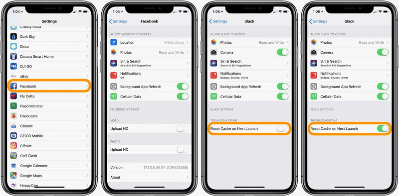 Process to Clear Cache from Third-party Apps on your iPhone