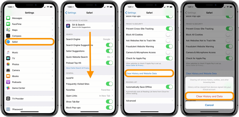 Process to Clear Cache from the Safari App on your iPhone