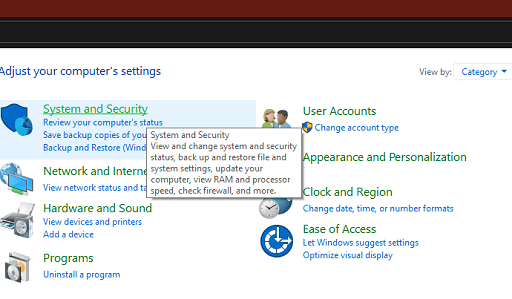 Fix Steam Won't Open Issue - In control panel click system and security