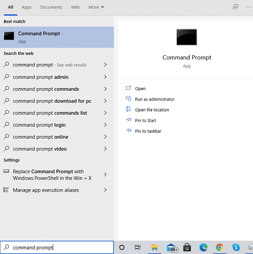 search for command prompt
