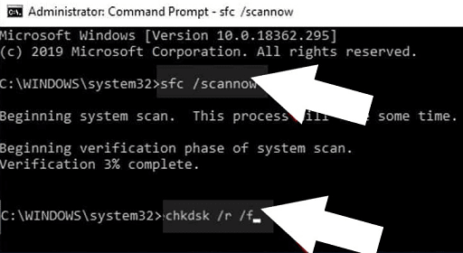 On the Command Prompt window, type sfc scannow and press Enter