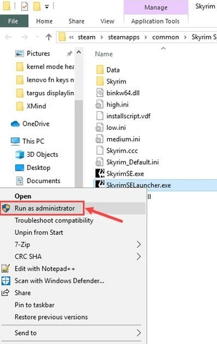 Skyrum Launcher file Run as administrator