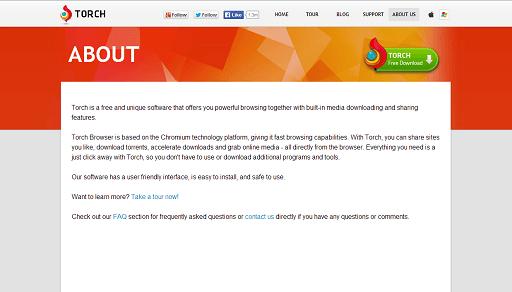 Torch browser- best internet explorer alternatives