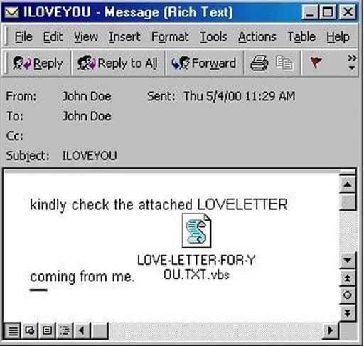 ILOVEYOU - Latest Computer Viruses