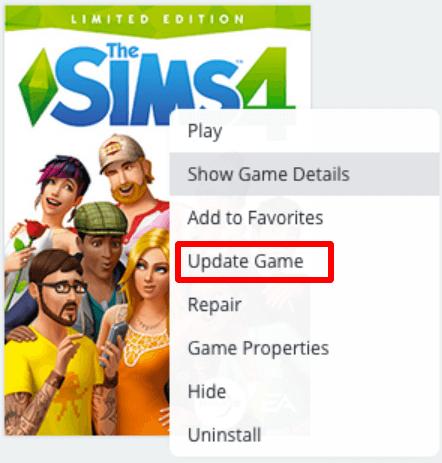 Update Sims 4