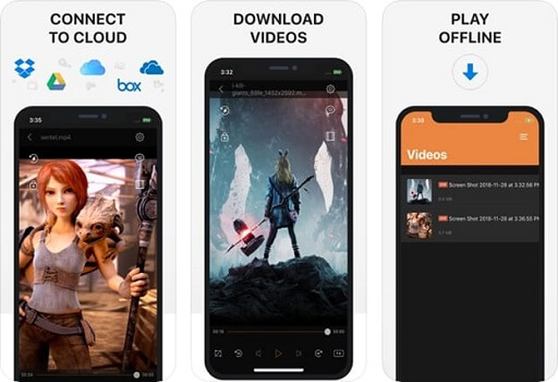 Cloud video player and streamer- video downloader for the iPhone