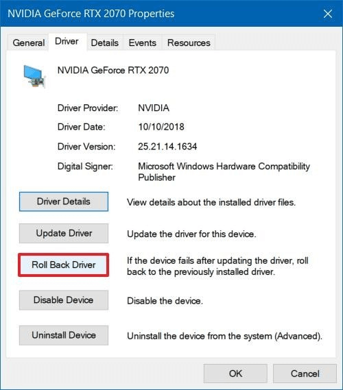 Perform a rollback of the Logitech G933 driver