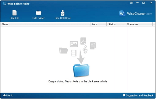 Wise Folder Hider- best folder-locking software for Windows 10 PC
