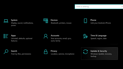 Take the Help of the Windows Troubleshooter - open update & security