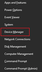 Pick Device Manager from the menu available on your