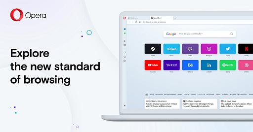 Opera- best lightweight browser