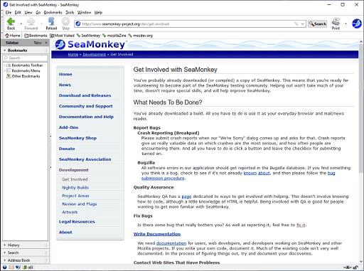 SeaMonkey- best lightweight browser for windows 10