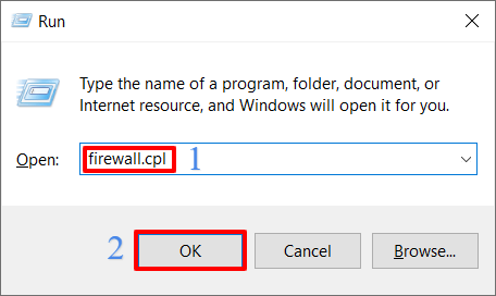 Turn off your antivirus and Firewall- Open tun box and give command firewall.cpl