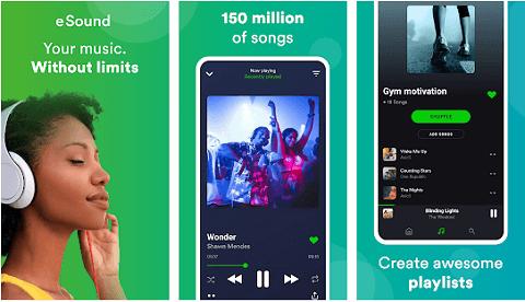 eSound - best alternatives to the Spotify app