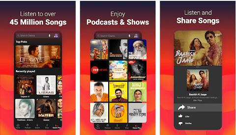 Gaana - great alternative to the Spotify app