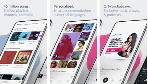 JioSaavan - free alternative to the Spotify app