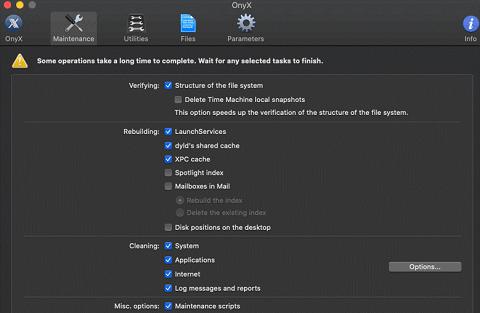 Onyx- Best Mac Disk Cleaner