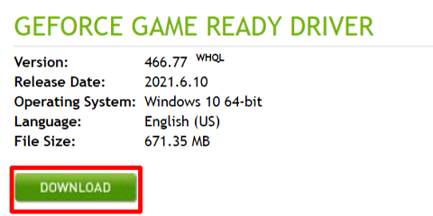 Click on DOWNLOAD to get the driver file downloaded