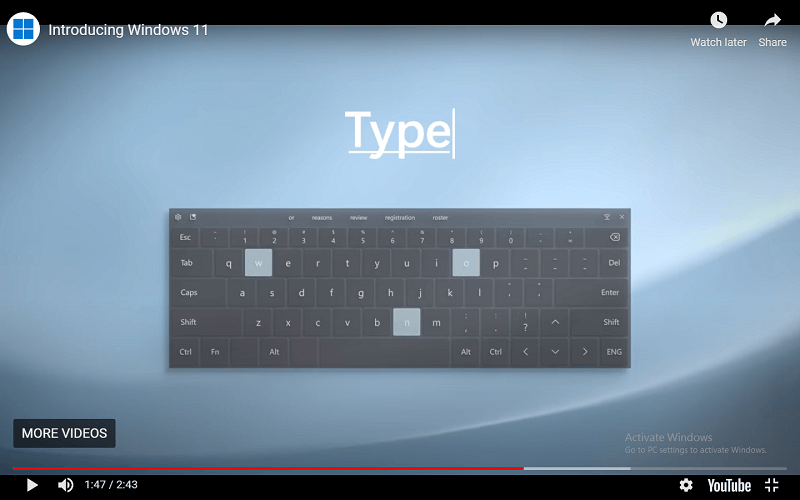 Different Modes of Typing