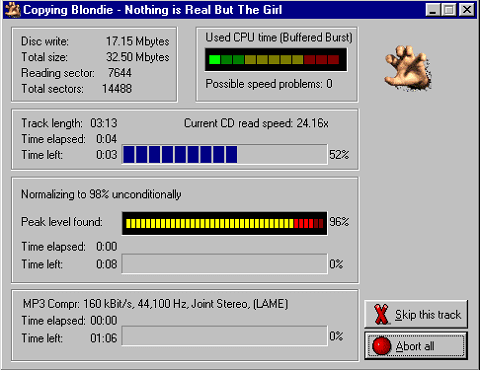 Audiograbber - best CD ripper programs to grab digital audio from CDs