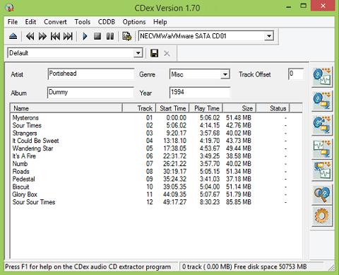 CDex - best free CD ripper
