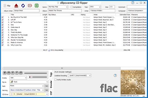 dBpoweramp CD Ripper- Best CD ripper for Mac and Windows