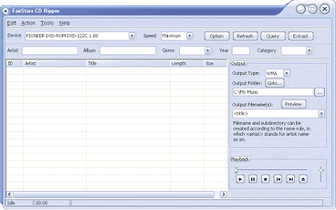 FairStars CD Ripper - best FLAC rippers with a friendly interface