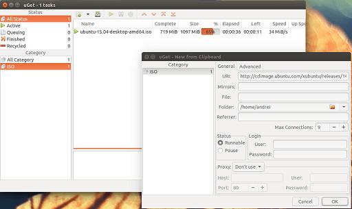 uGet Download Manager- best free IDM alternatives for Windows, Mac