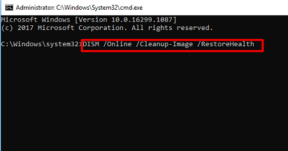type the DISM Command for Dev Error 6068 in MW