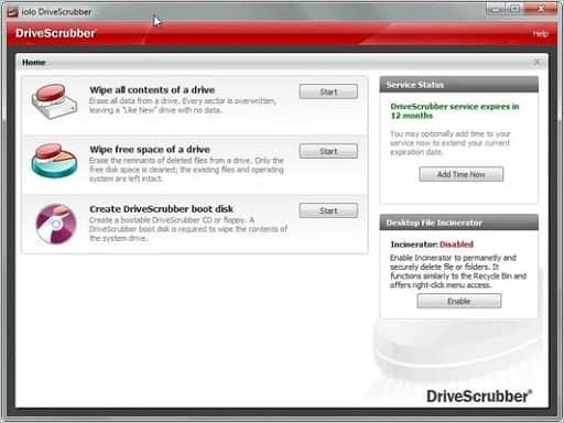 DriveScrubber- Best data destruction software