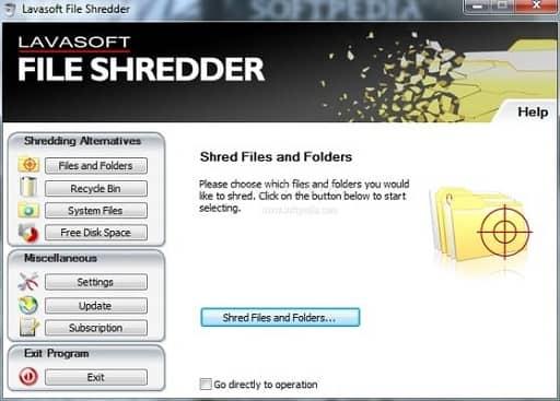 Lavasoft File Shredder- best file shredders for Windows 10