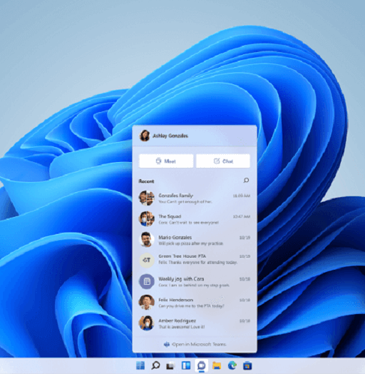 Features of the All-New Windows 11- Microsoft Teams