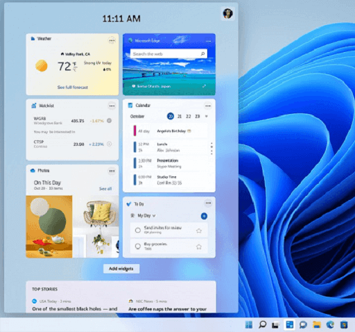 Features of the All-New Windows 11- News Feed