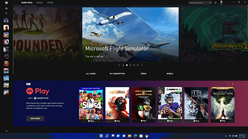 Features of the All-New Windows 11- Xbox Game Pass Compatibility