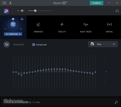 Boom 3D- best equalizers for Windows 10