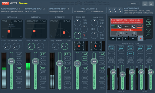 VoiceMeeter Banana- equalizer for audio