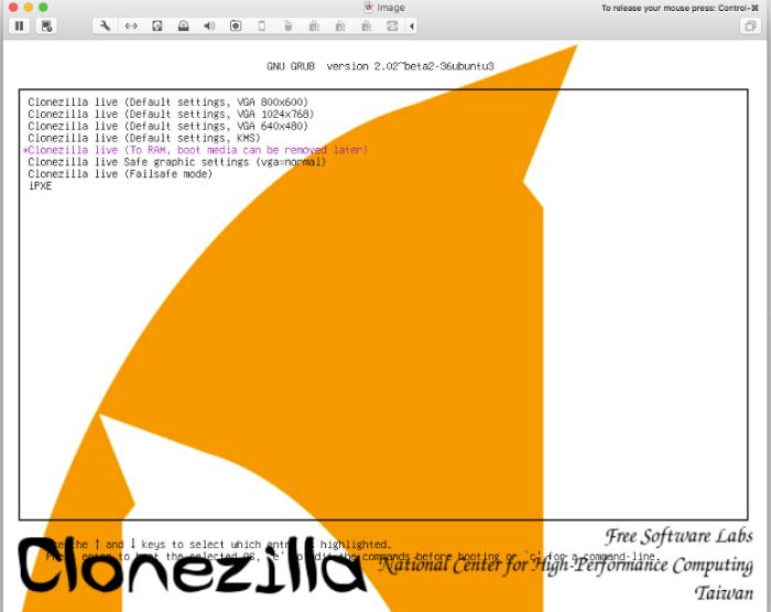 CloneZilla mac