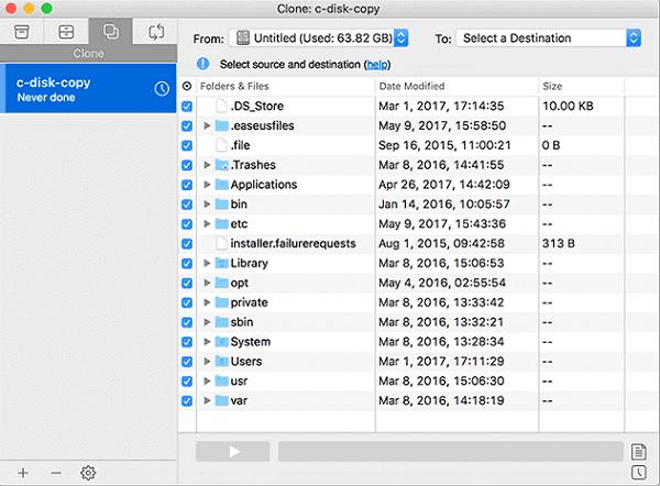 EaseUS Todo Backup for Mac