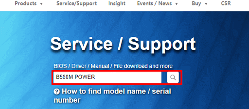 Download the driver from Gigabyte's website- Search for your motherboard