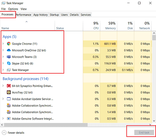 Close Every Other Application from task manager