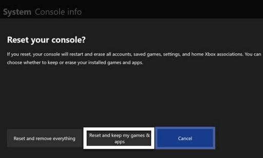 Reset Your Xbox One Settings - reset and keep my games