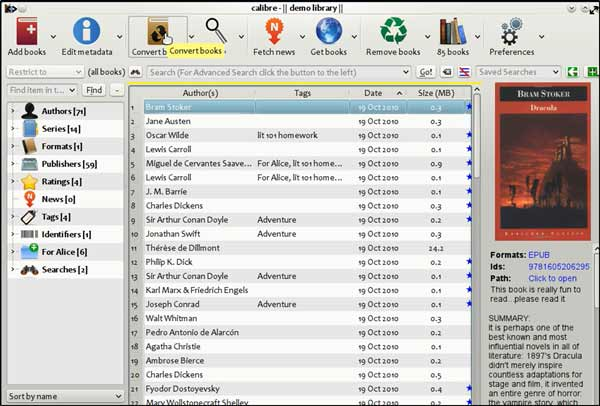 Calibre- best eBook organizers and managers