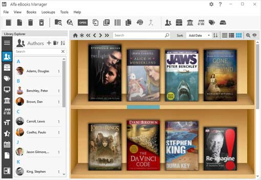 Alfa eBook Manager- completely free eBook management