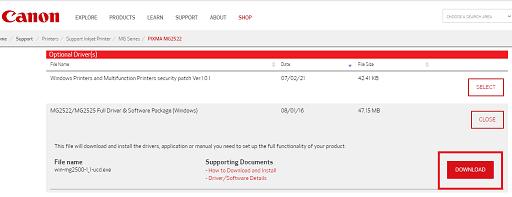 Download Canon PIXMA MG2522 Drivers