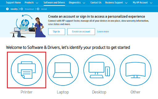Download HP Ink Tank 310 Printer Driver - Click on Printer