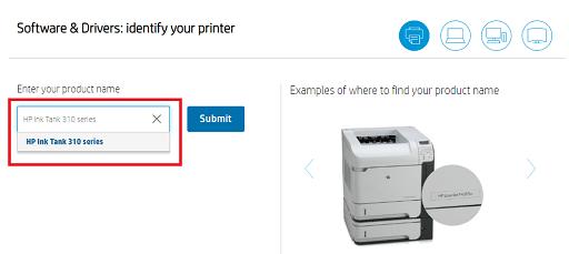 Search HP Ink Tank 310 Printer Drivers