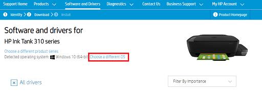 Download HP Printer Drivers- Choose the OS